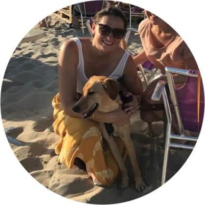 Hund Milly mit Besitzerin Alexandra