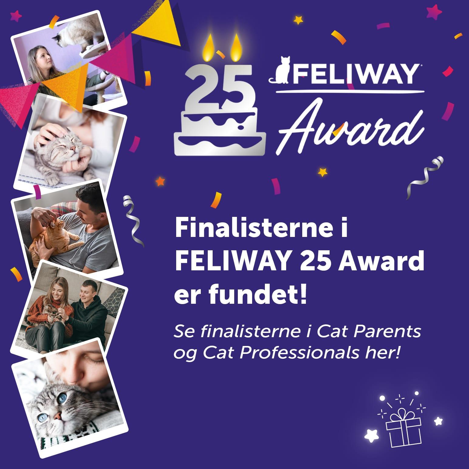 Se finalisterne i FELIWAY 25 Award her!