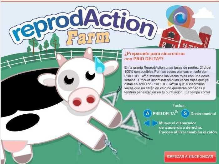 pantalla inicio juego granja ReprodAction